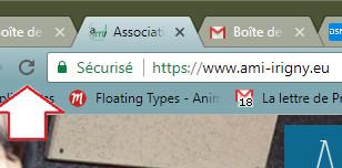 Comment actualiser la page WEB ?