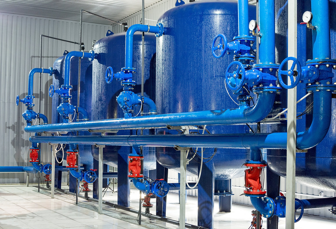 Water purification filter equipment in p