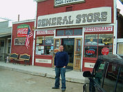 Our son Walter in front of the old Gener