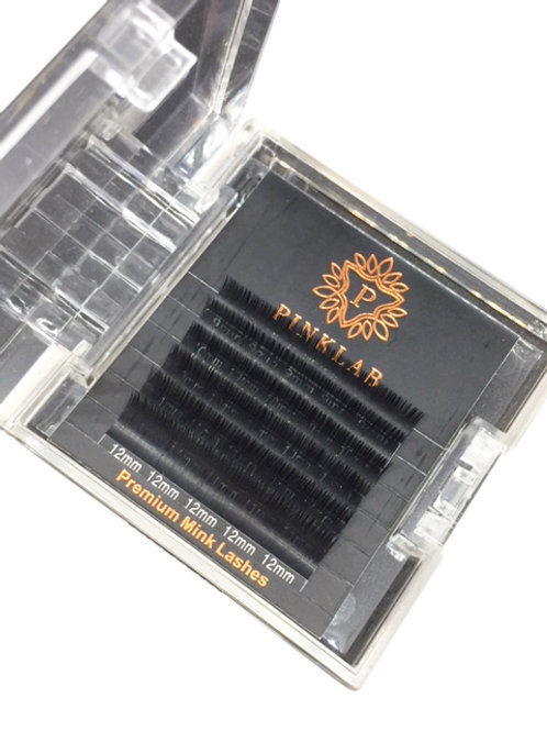 NEW! Mink Eyelash Extension Premium mixed tray  DD.18 Curl 9-12mm by PINKLAB