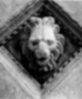 tile sculpture of lion