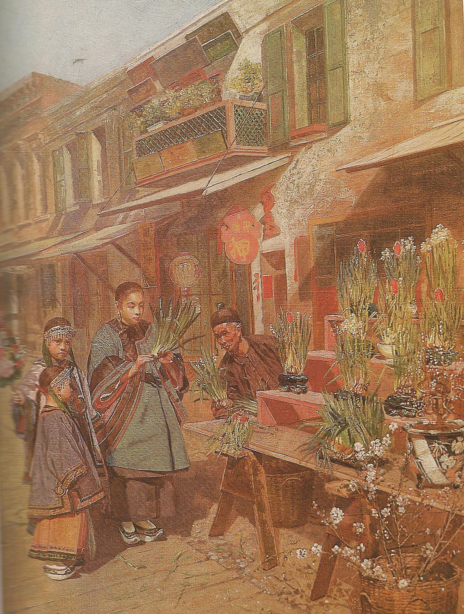 Street scene with flower stand - Copy