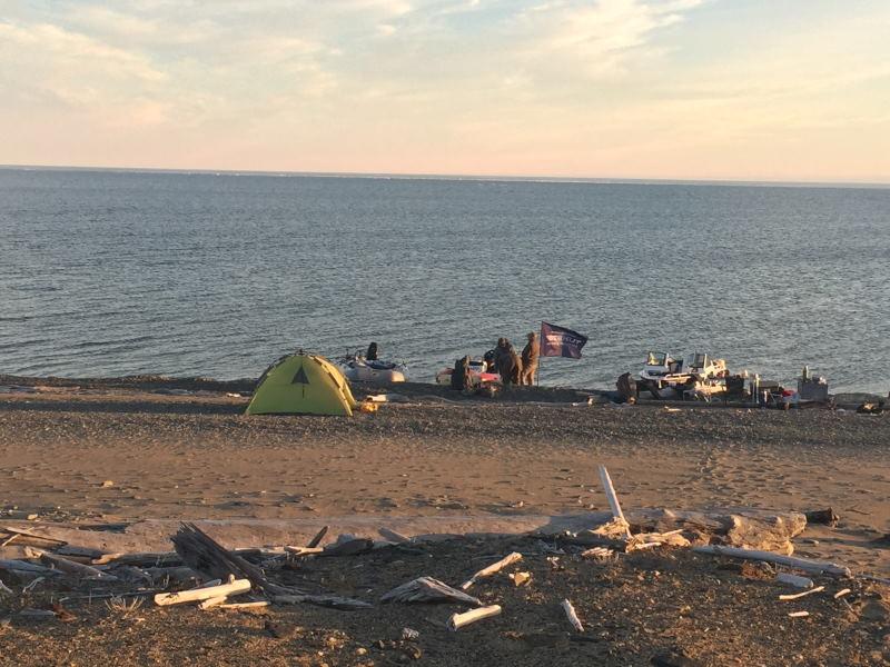 Лагерь первый на Святом Носе.