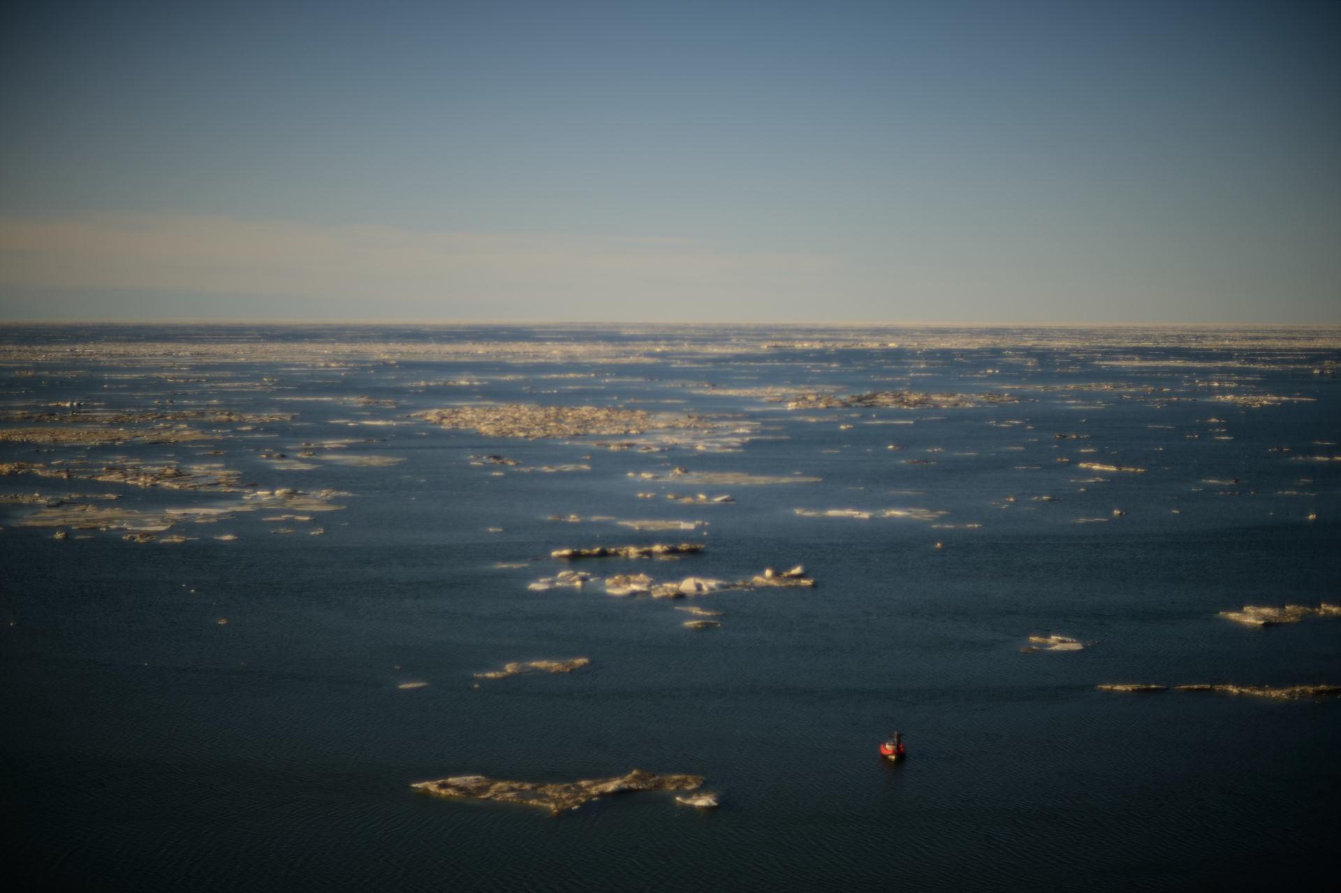 Бескрайняя ледяная пустыня...