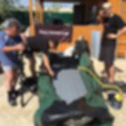 подготовка лодки Golfstream