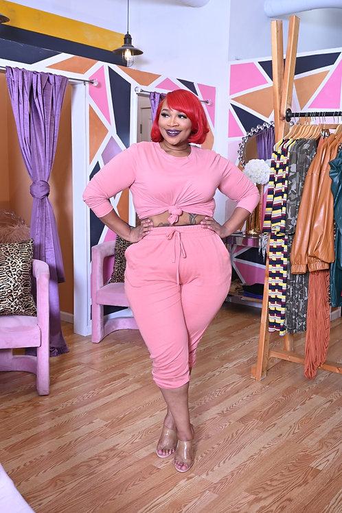 Rose Me Pink Sweet Sweat Set