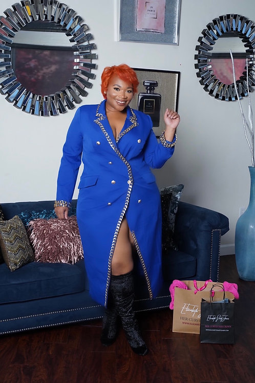 Blue Luxe Dress Coat