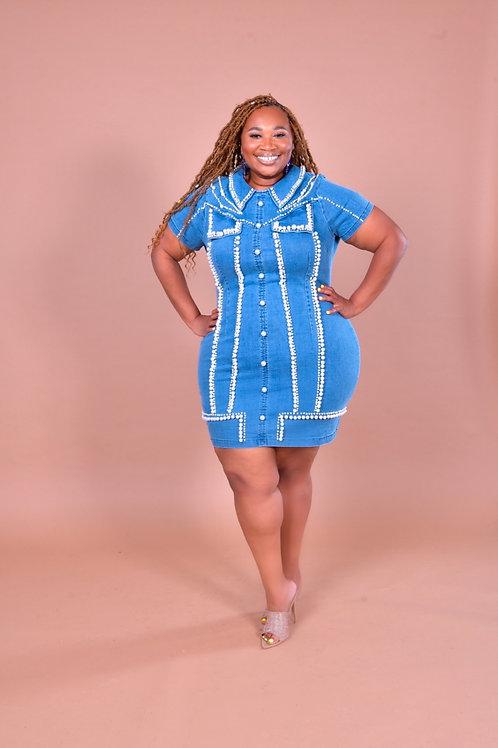 So Charming Denim Dress