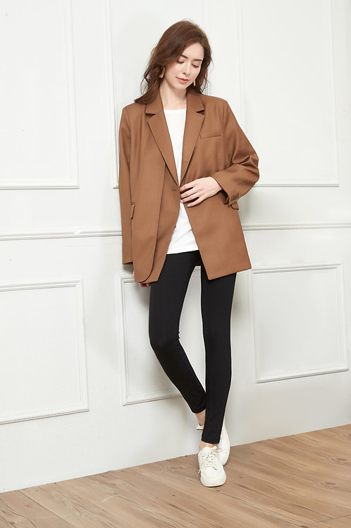 Honey Brown Oversized Blazer