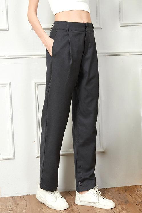 Grey Casual Suit Pants