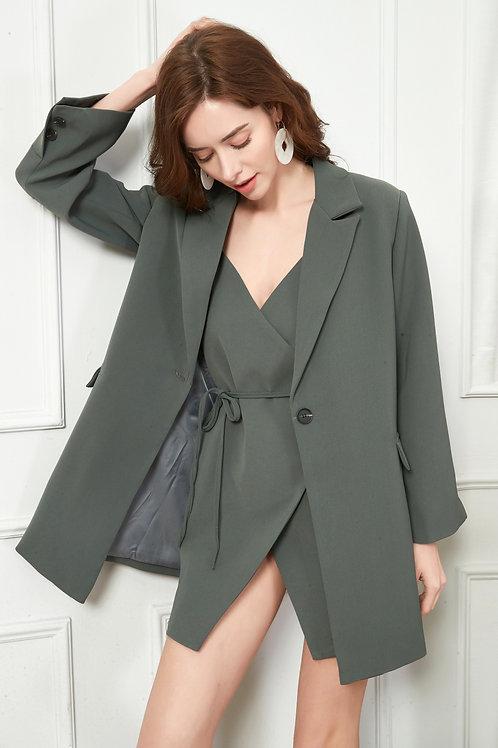 Stylish Pea Green Blazer