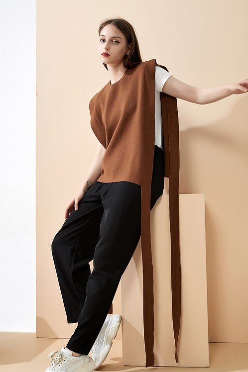 Sleeveless Side Strap Sweater