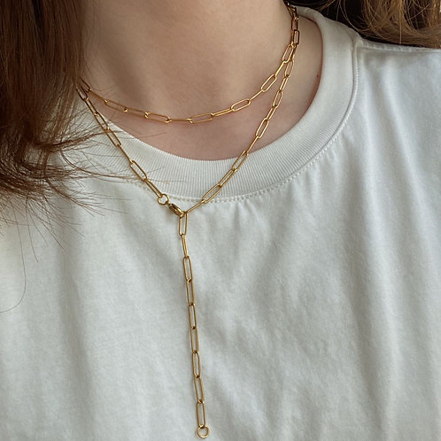 The Gold Plated Paper Clip Chain Choker (2 Styles)