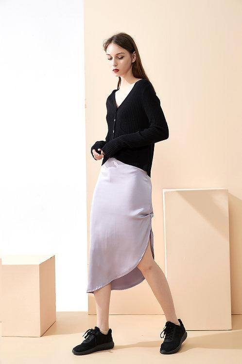 Glowing Side-Split Skirt