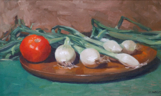Tomato and Spring Onions