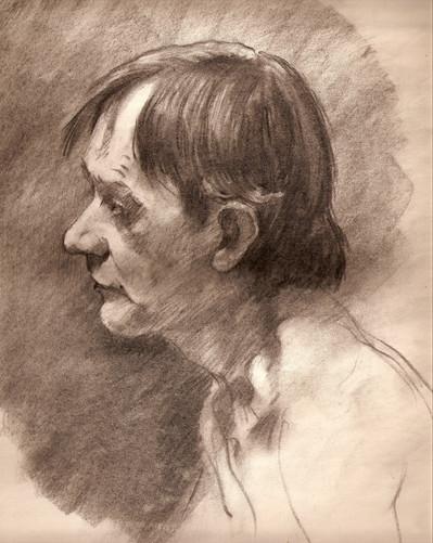 Male Study - charcoal