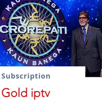 Gold IpTv subscription  $13.5/1month $38/3months $65/6months