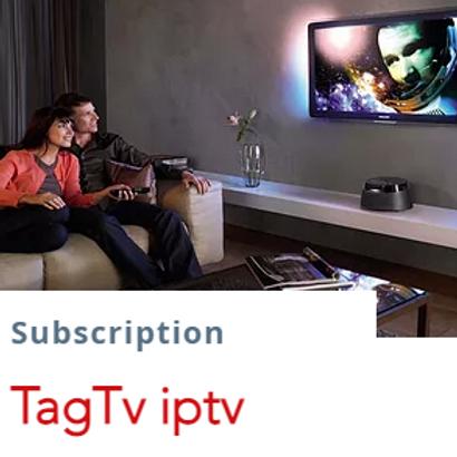 TagTv IpTv subscription  $13.5/1month  $38/3months  $65/6months
