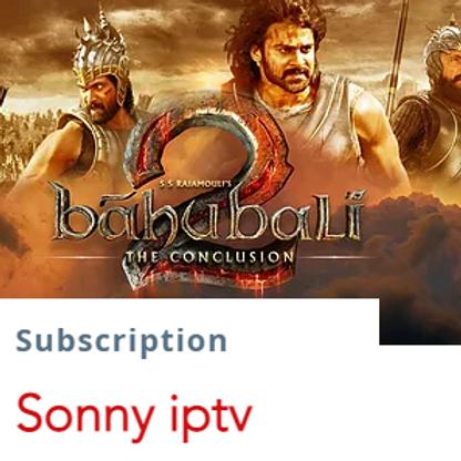 Sonny IpTv subscription   $13.5/1month  $38/3months $65/6months