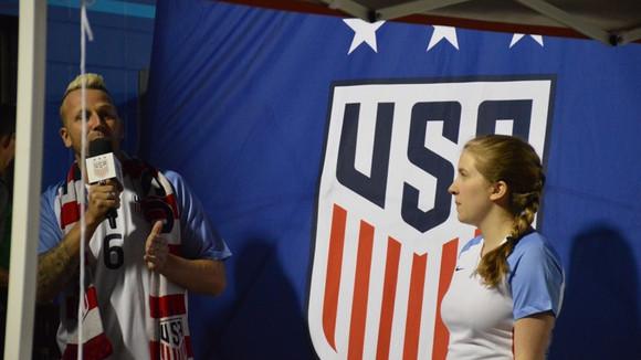 GOAL! Mady Sings for the Women's US Soccer Team
