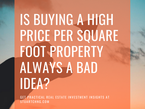 Is Buying A High Price Per Square Foot New Launch Property Always A Bad Idea?