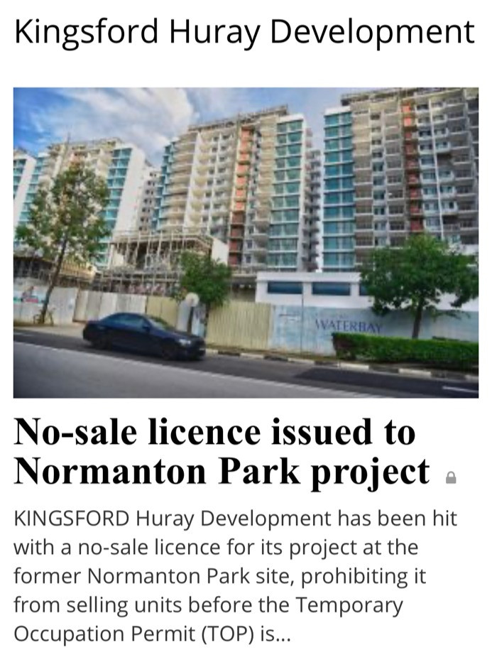 Quality issues with Kingsford Hurray's projects raised alarm bells, prompting a 1st ever no-sale licence issued by the Controller of Housing.