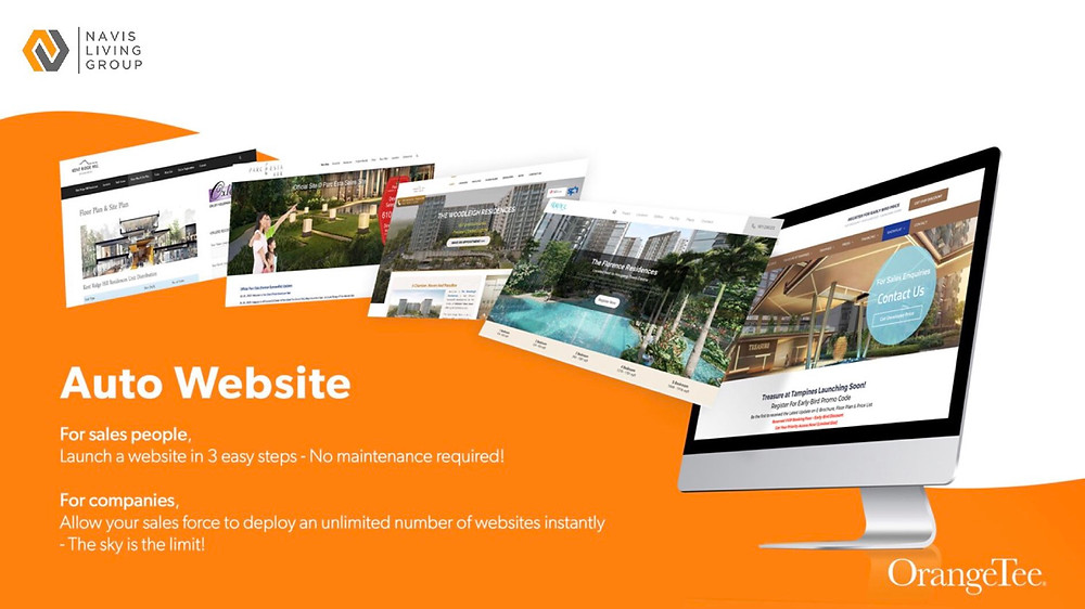 Free Auto Website for property agents of OrangeTee & Tie