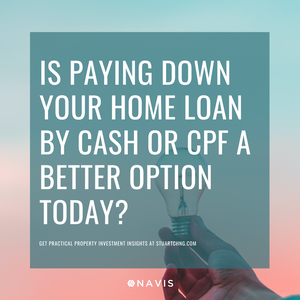 should i pay down my housing mortgage loan with cash or cpf?