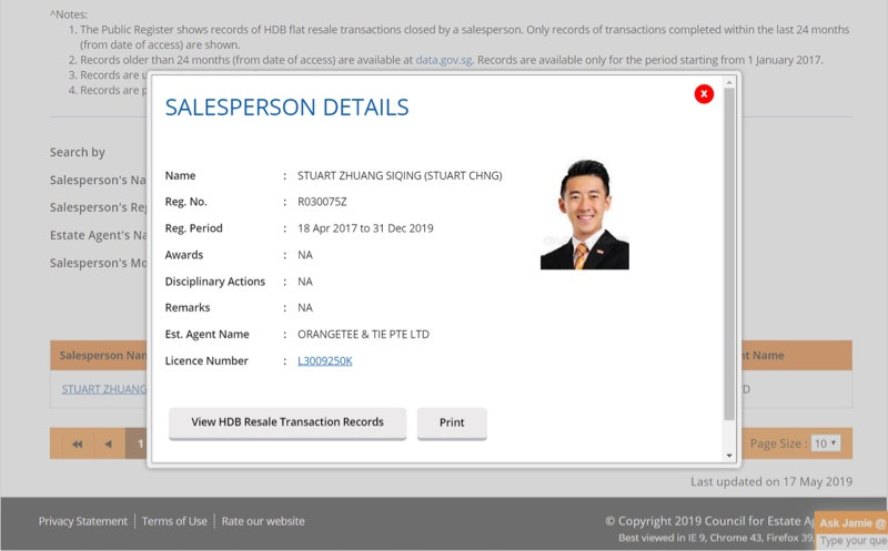 real estate agent license singapore