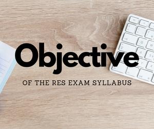 RES Course Exam Syllabus