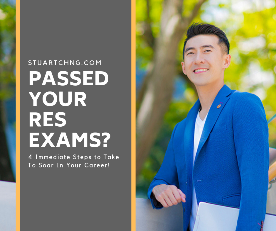 Passed your RES Exams? 4 Immediate Steps to take to soar in your career
