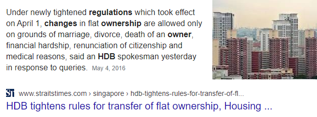 HDB transfer of ownership