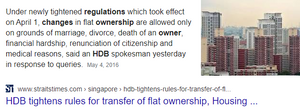 HDB transfer of ownership can be done
