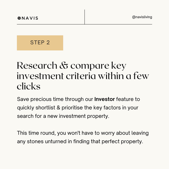 Research & compare key investment criteria within a few clicks.