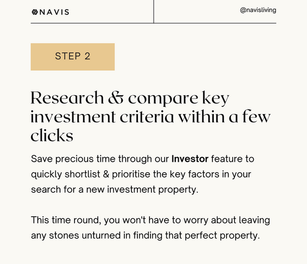 Research & compare key investment criteria within a few clicks