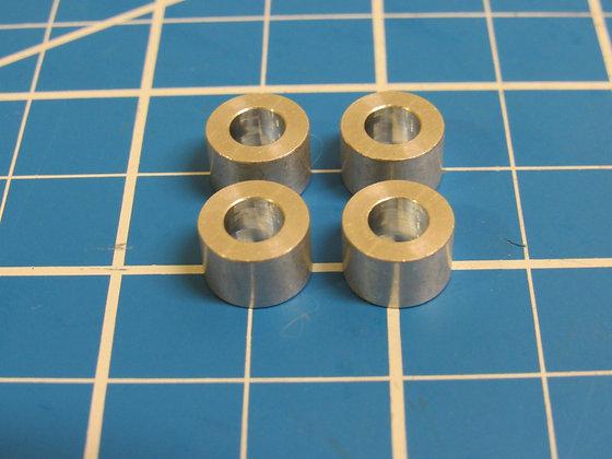 "Aluminum Spacer M5, 1/4"" long, 5.3mm ID x 10mm OD x 6.35mm L"
