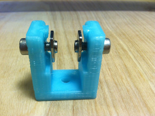 3D printed M5 tap jig for aluminum extrusion