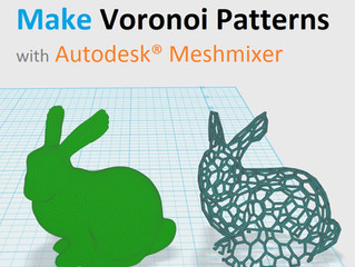 How to Make Voronoi Patterns with Autodesk® Meshmixer