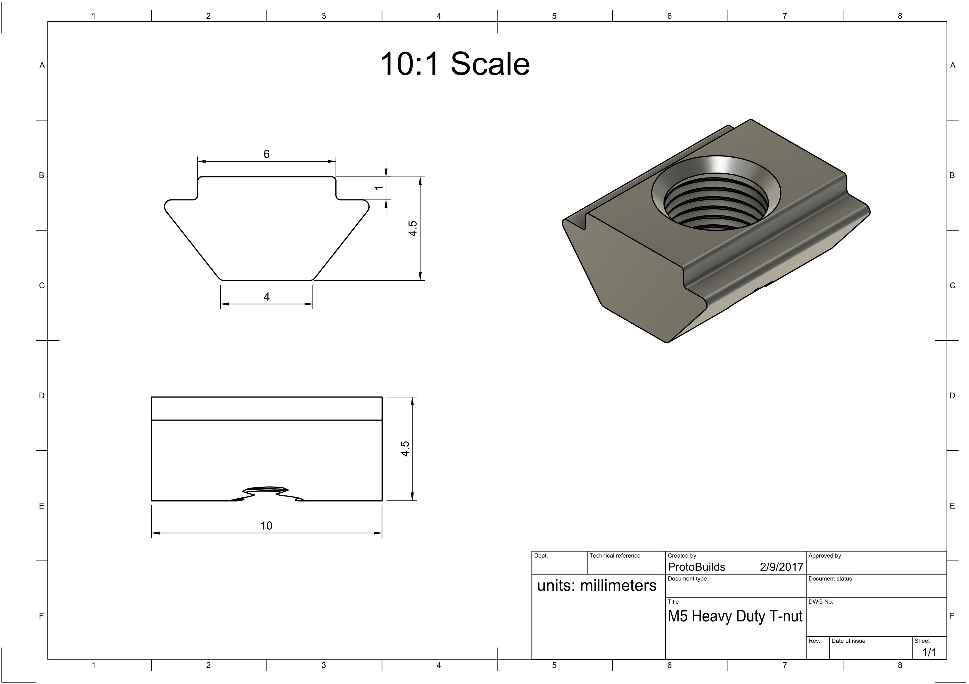 M5 Heavy Duty T-nut Drawing-1
