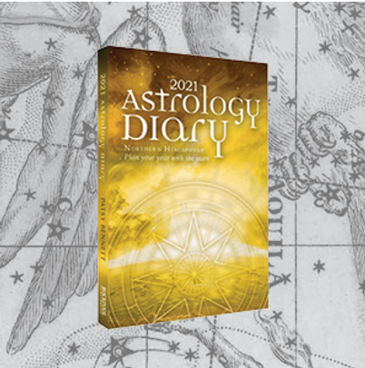 2021 Astrology Diary pic with background