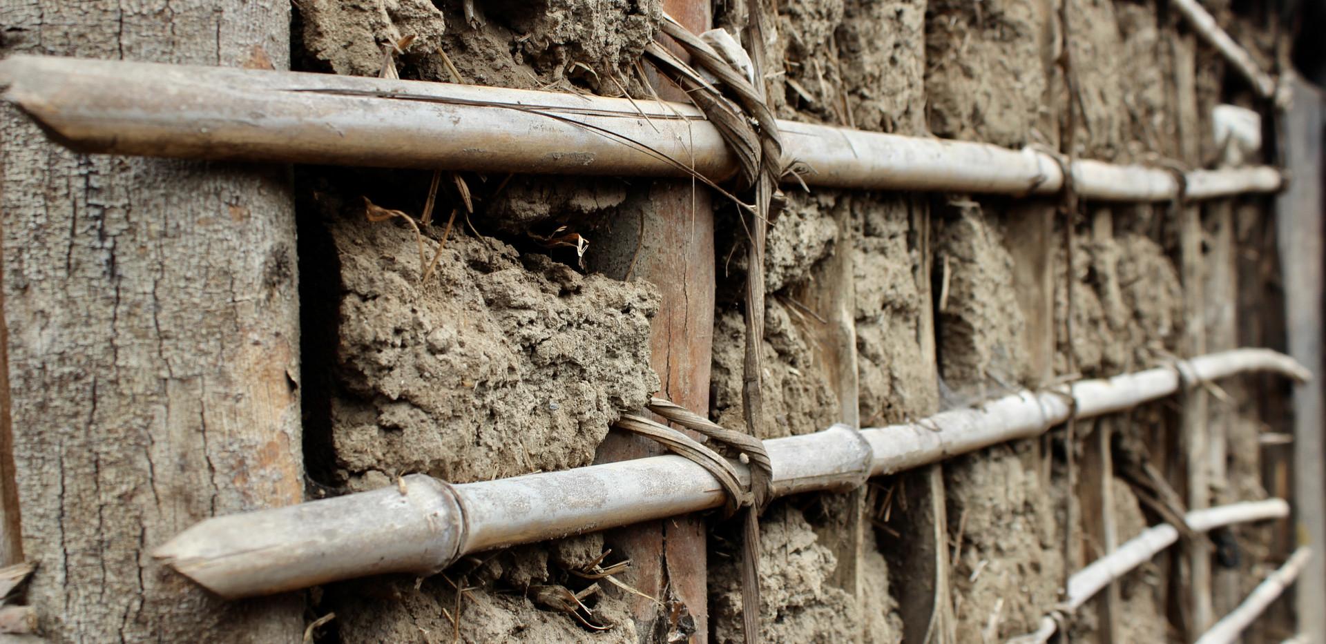 House mud wall
