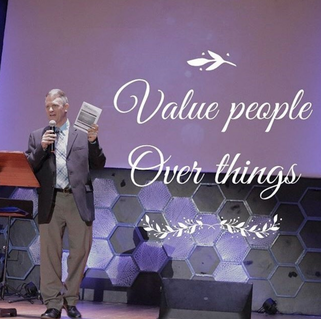Bryan Speaking of the Value of People over Things