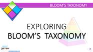 Exploring Bloom's Taxonomy