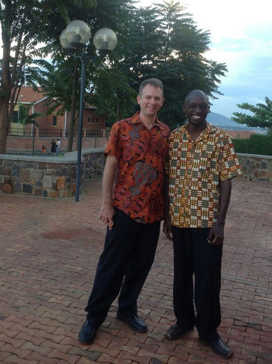 With Moses Mbabali