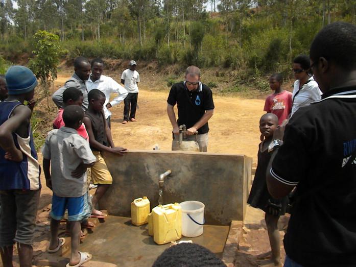Bryan at New Rwandans4Water Well Site