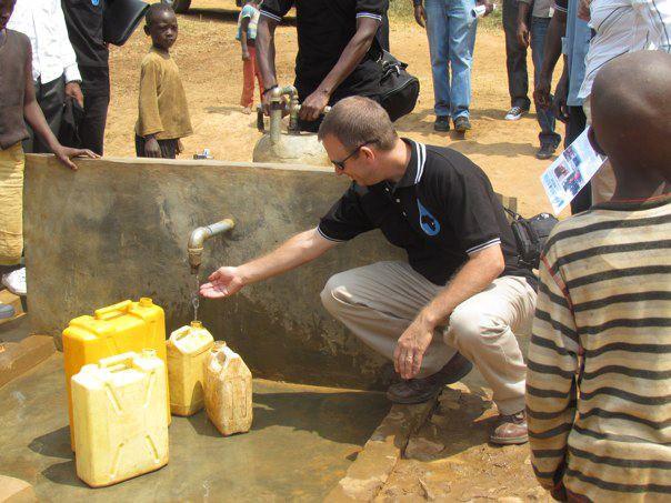 Bryan w Rwandans4Water Well Site