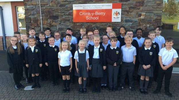 Pupils at Cronk y Berry Primary School in Douglas submitted suggestions in Manx Gaelic