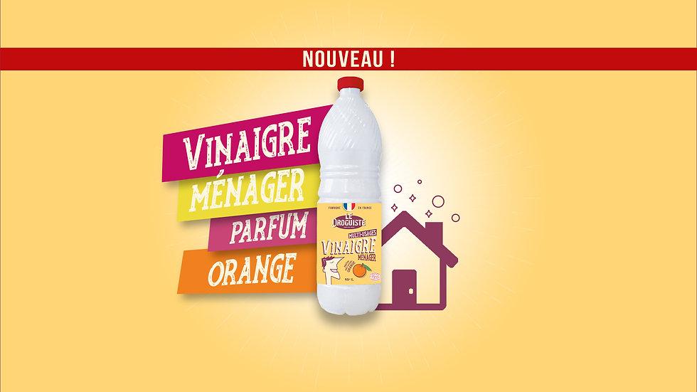 Vinaigre ménager orange Le Droguiste