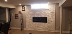 Vaughan Basement Fireplace And Wall
