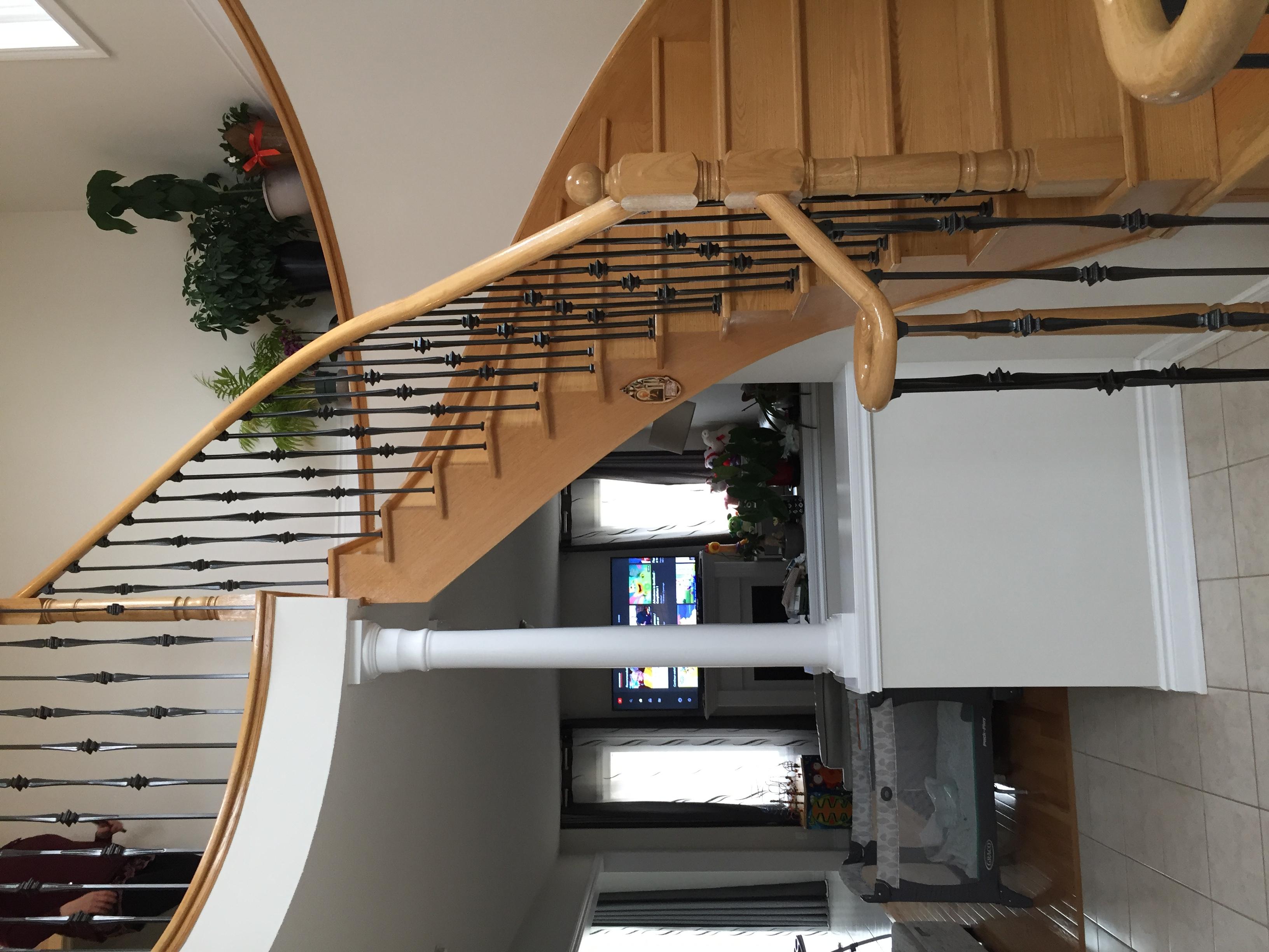 Elegant Half Wrap Stairs